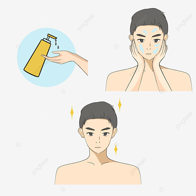 mens cartoon skin cleaning
