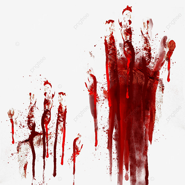 palm blood red halloween graffiti