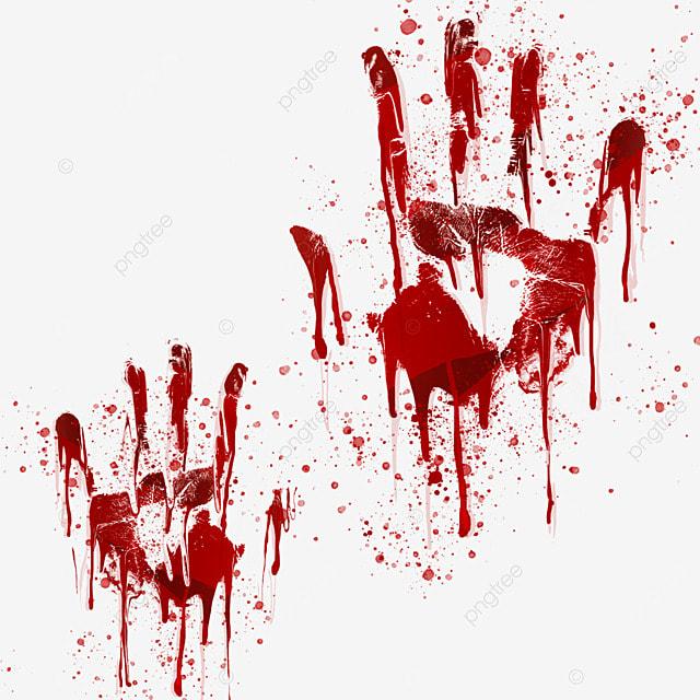 palm halloween red blood pattern
