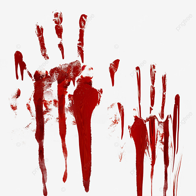 palm horror blood graffiti halloween decoration