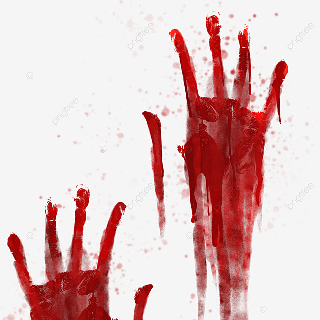 palm horror halloween blood pattern