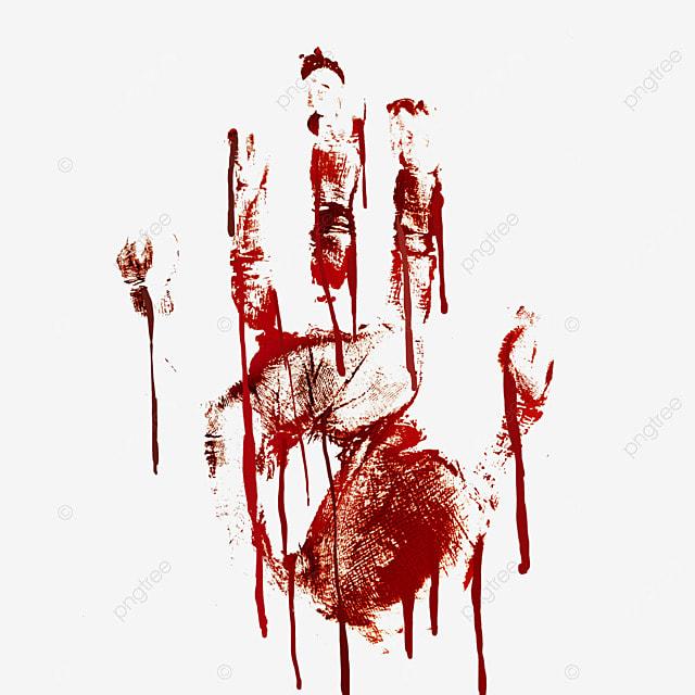 palm print halloween horror blood graffiti