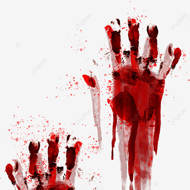 palm print halloween horror blood