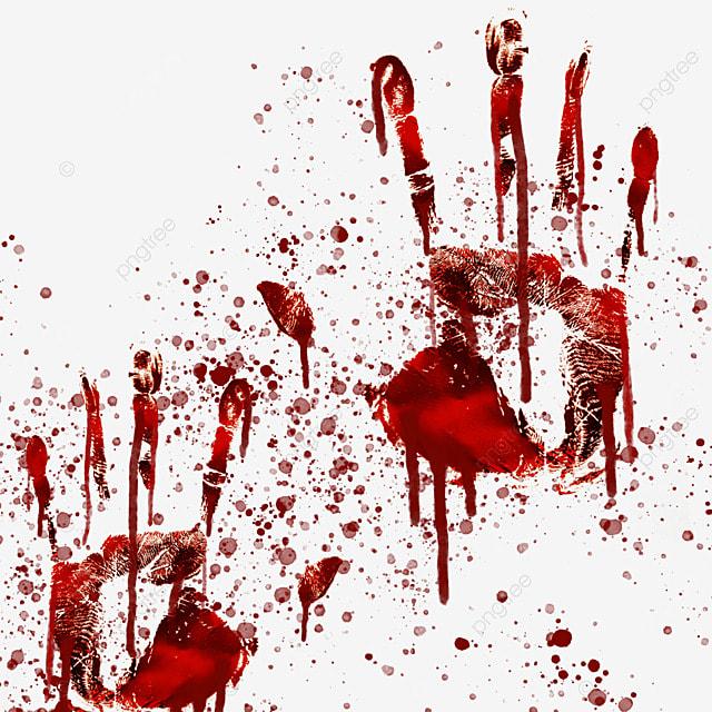 palm print red blood horror graffiti
