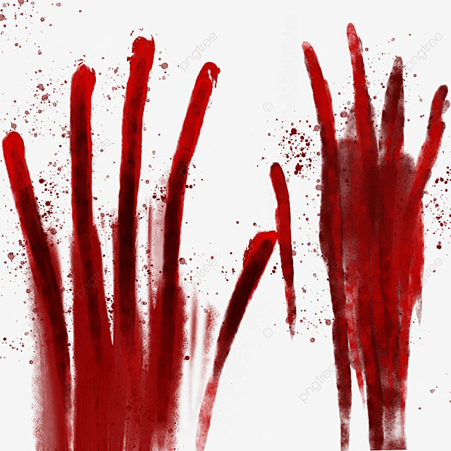 palm red horror blood halloween decoration