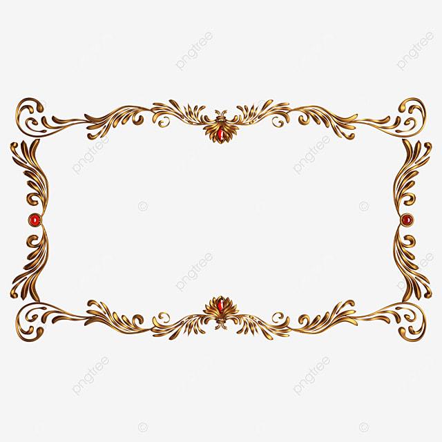 rectangular gold metallic frame