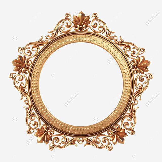 round exquisite three dimensional retro frame