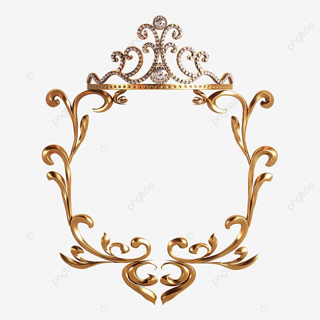 square gold crown border