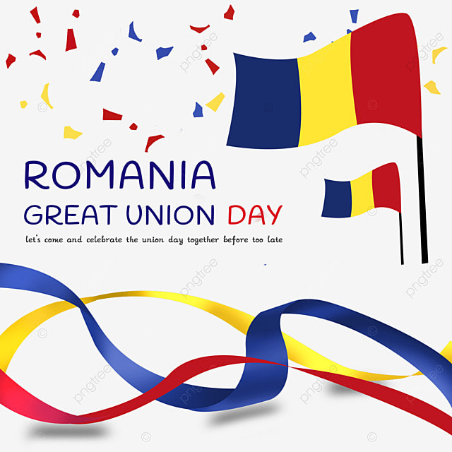 flag for the celebration of romanias national unity day