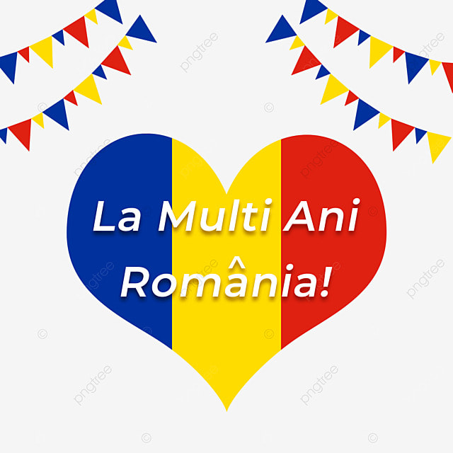 heart shaped flag of romania national unification day