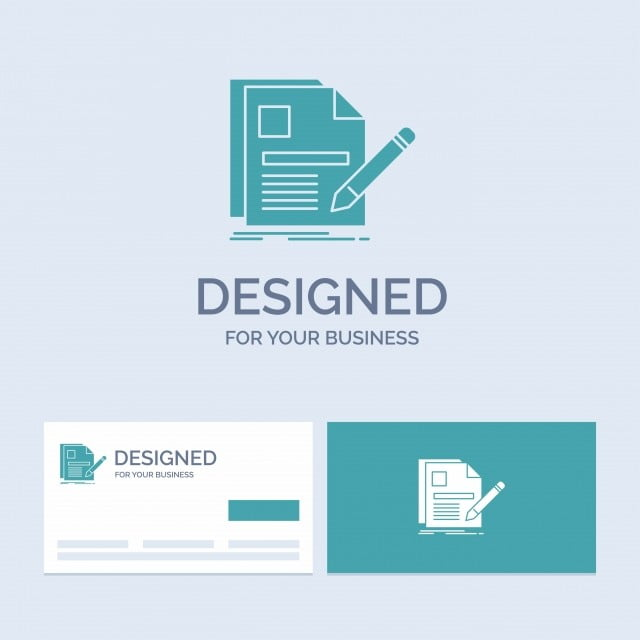 Document File Page Pen Resume Business Logo Glyph Icon Symbo
