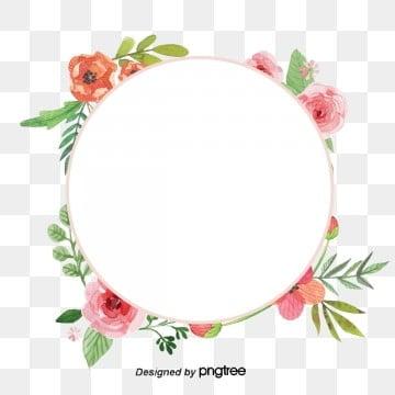วงกลม ดอกไม้ สีชมพู ล้อมรอบ วงกลมสีส้มสีชมพู ใบไม้สีเขียววงกลม  ดอกไม้  สีชมพู รูปภาพ PNG และเวกเตอร์