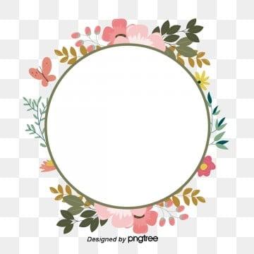 วงกลม ดอกไม้ สีสัน กรอบสีเข้มน้ำตาล ผีเสื้อ สีชมพูวงกลม  ดอกไม้  สีสัน รูปภาพ PNG และเวกเตอร์