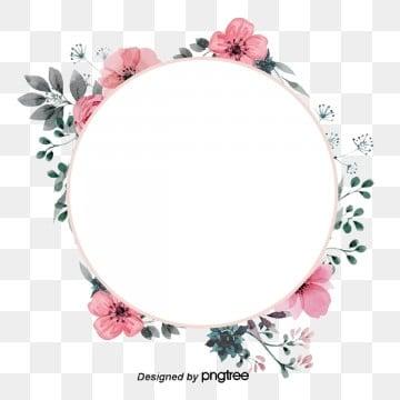 กรอบ ดอกไม้ สีชมพู สีสัน คลาสสิคกรอบ  ดอกไม้  สีชมพู รูปภาพ PNG และเวกเตอร์