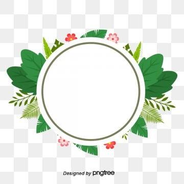 กรอบ วงกลม ดอกไม้ สองชั้น สีเขียว สีชมพู ใบไม้ ใบใหญ่กรอบ  วงกลม  ดอกไม้ รูปภาพ PNG และเวกเตอร์