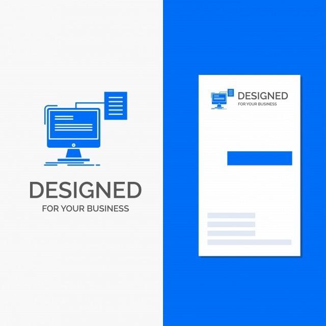 Business Logo For Resume Storage Print Cv Document Vertical
