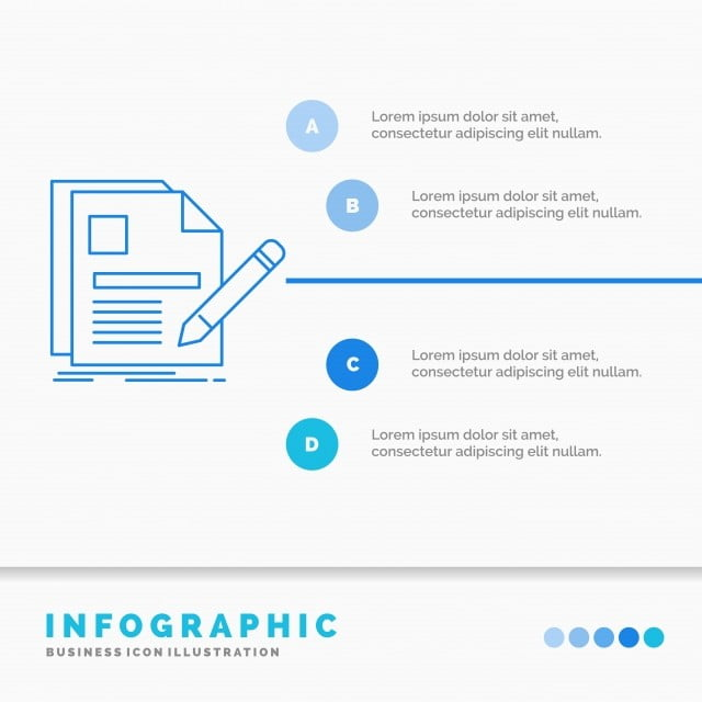 Document File Page Pen Resume Infographics Template For Webs