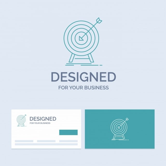 83495c42f349 цель удар рынок успех целевой бизнес логотип линии значок Symbo 3d ...