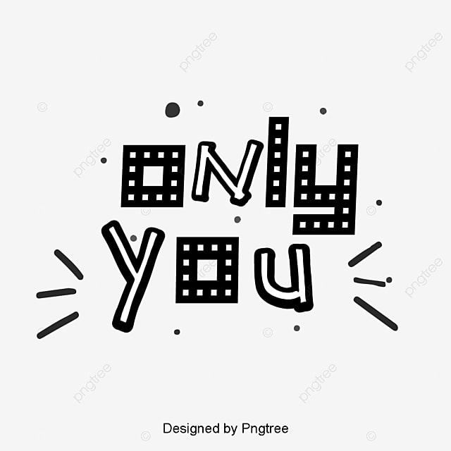 Only your Valentines Day caption artistic words Art Font For