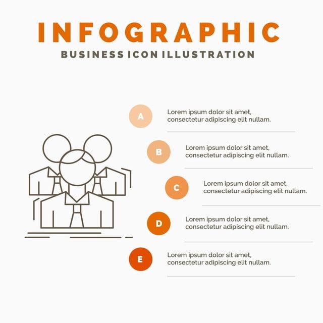 Team Teamwork Business Meeting Group Infographics Template F
