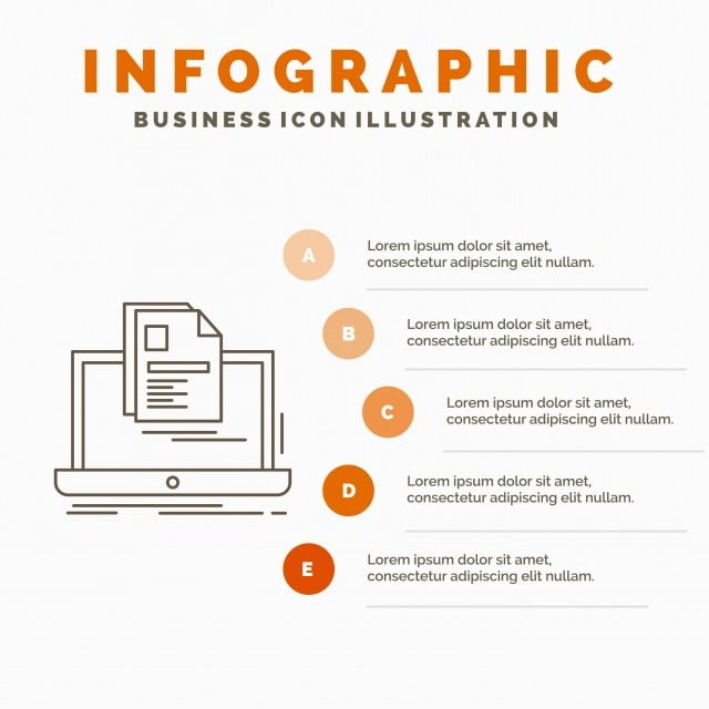 Cuenta Laptop Imprimir Informe Plantilla Curriculum Vitae Infografia
