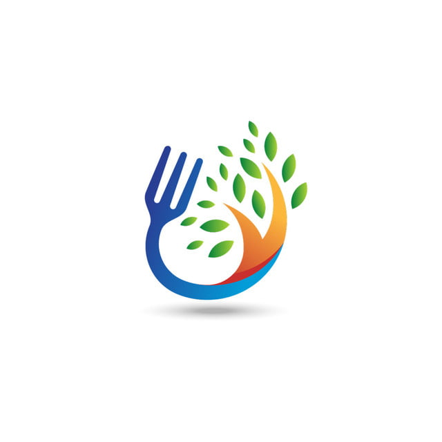 Organic Food Logo Fork And Tree Symbol Healthy Icon Illustration Icon Organic Restaurant Png And Vector With Transparent Background For Free Download