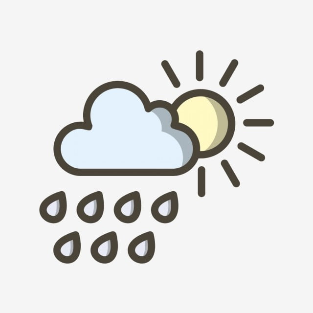 vector summer rain icon summer icons rain icons cloud with sun icon png and vector with transparent background for free download vector summer rain icon summer icons