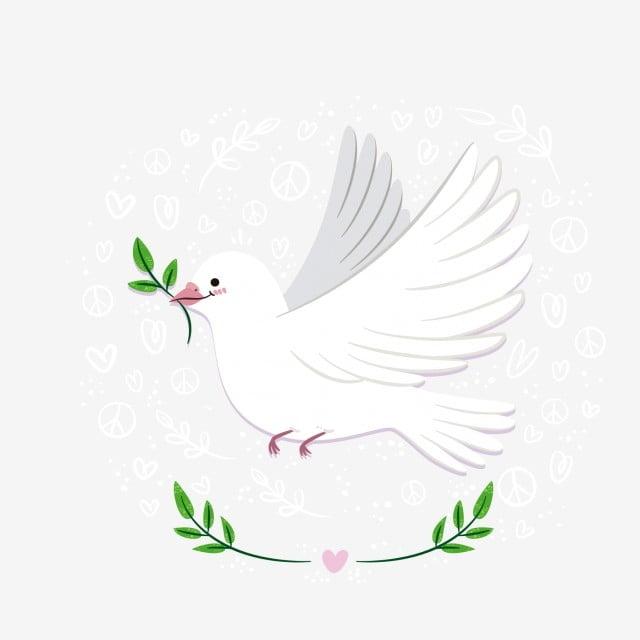 La Journée Mondiale De La Paix Dessin Animé De Couleur Blanche Au
