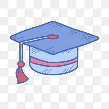 blue graduation season summer vacation cartoon doctor hat, Lovely, Hat, Illustration PNG and PSD illustration image