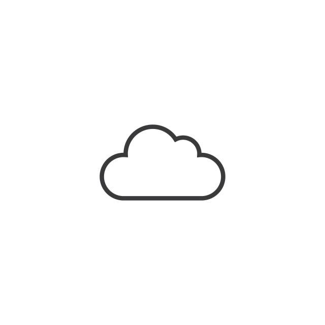 Cloud Icon Line Style Vector Illustration, Icon, Logo, Line