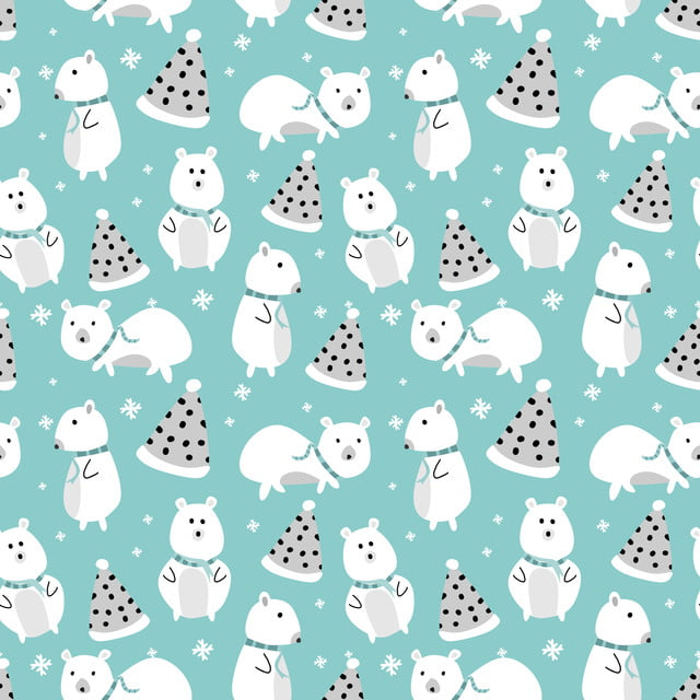 Colorful Christmas Background For Kids.Cute Bear For Christmas Pattern With Pastel Colors For Kids