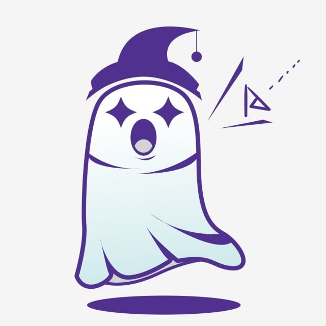 Cute Little Ghosts Screaming For Halloween Lovely Terror