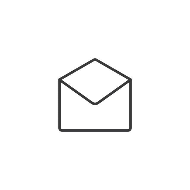 courriel ouvert ic u00f4ne line style dillustration vectorielle enveloppe adresse contexte en blanc