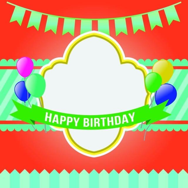 Feliz Cumpleaños Invitación Parte Tarjeta Vector Plantilla