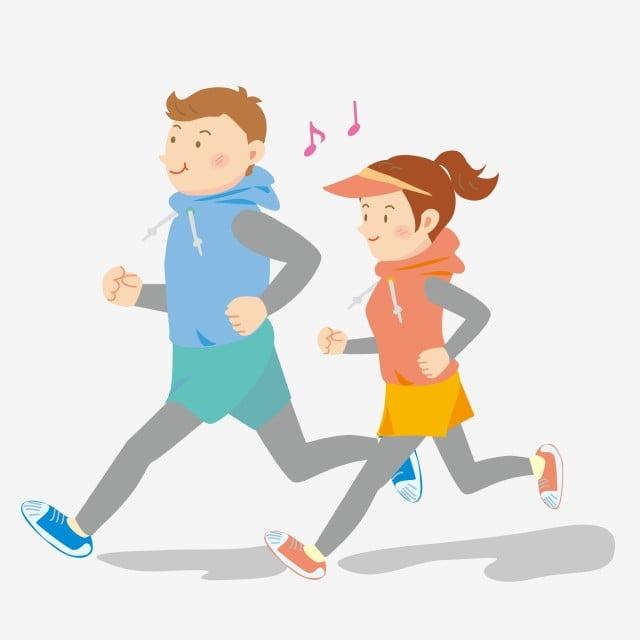 Motion Cartoon Hand Drawn Morning Run Run Healthy Running