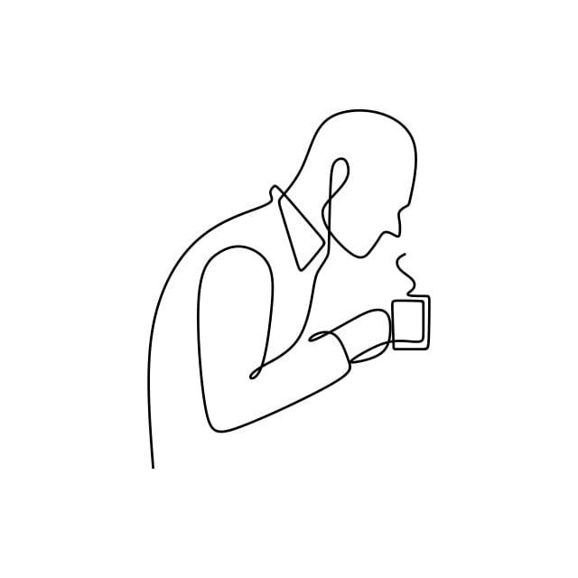 840 Gambar Hitam Putih Orang Minum Kopi HD