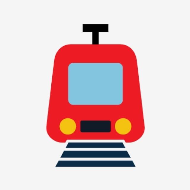 Train Flat Multi Color Icon Train Passengers Track Png