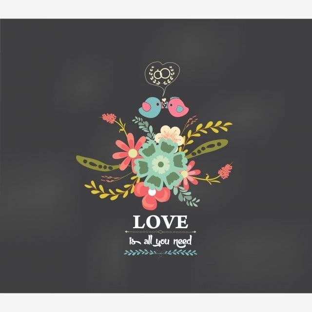 Carte de voeux romantique gratuit