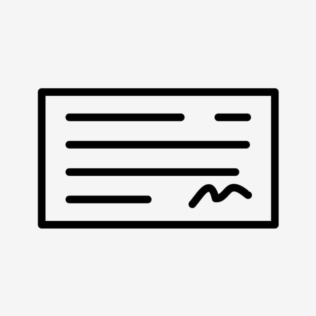 Vettore Assegno Icona Bancario Icona Bancario Assegno Png E Vector