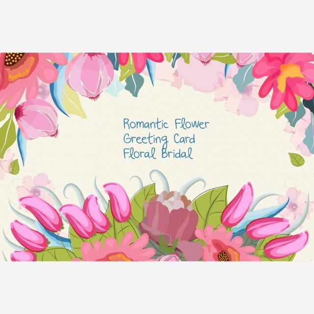Wedding Invitation Card With Flower Templates On White Background
