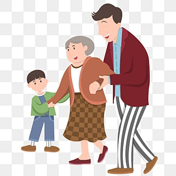 こども 孫 息子 おばあちゃん, 孝行, 孫, 可愛い PNGとベクトル