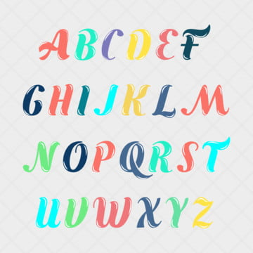 english alphabet collection colorful Fonts