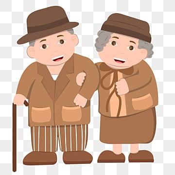 おじいさん お年寄り おばあちゃん 松葉杖, 愛してる, 尊敬する, 老夫婦 PNGとベクトル