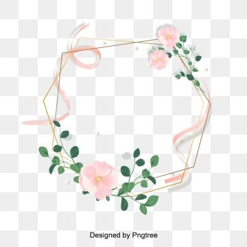 Pink Rose Gold Fine Border Vermicelli Valentines Day Border Flower Painting, Silk, Ribbon, Valentines PNG and Vector