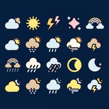 погода облачно переменная облачность ночь, солнце, луна, икона PNG ресурс рисунок и векторное изображение