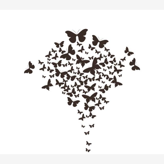 Beach Logo Vectors: Butterflies Black Vector, Summer, Background, Beach PNG