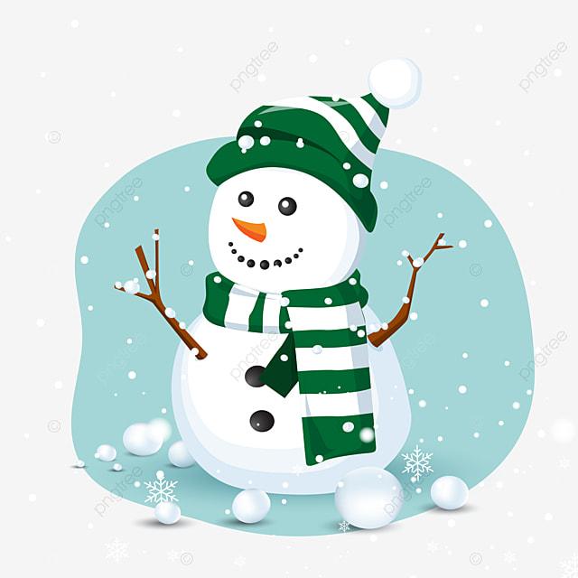 Neve Pesada Mao Dos Desenhos Animados Desenhada Ilustracao Natal