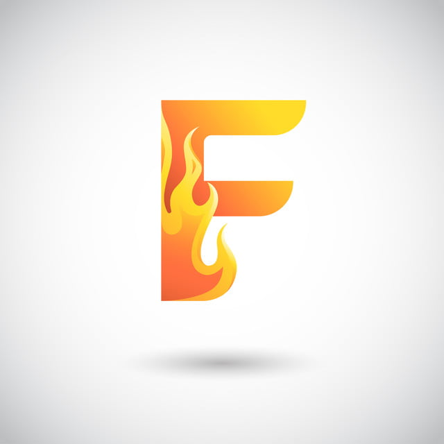 Letter F With Fire Logo Concept Creative And Elegant Logo