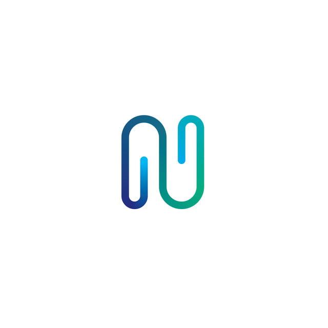 Letter N Logo Icon Elements Linear Flat Concept Design Logo