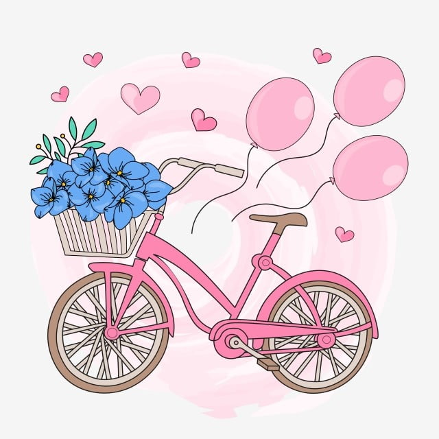 6d3afbe575ac6 la decoración y el diseño Parte bicicleta el día de San Valentín vector  Illustration set para imprimir Gratis PNG y Vector